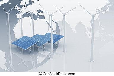 Windmills and Solar Panels - Windmills and Solar Panels on...