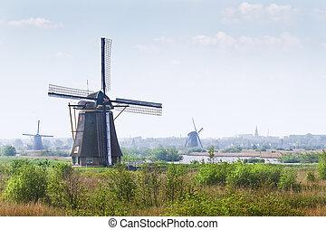 Windmills at Kinderdijk, the Netherlands