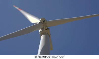 Windmills converting wind energy into electricity in Montenegro