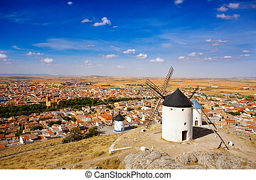 Windmills in Consuegra, Spain - Windmills of Consuegra in...