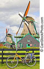 windmills, németalföld, bicikli