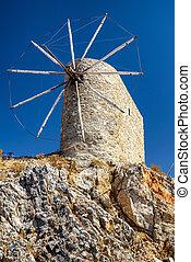 Windmills of the Lasithi plateau, Crete - Greece