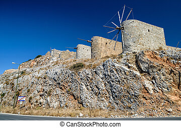Windmills of the Lasithi plateau, Crete - Greece