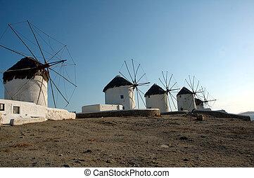 Windmills on the Greek is