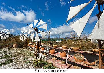 Windmills on the plateau of Lassithi