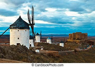 Windmills - Typical windmills of Region of Castilla la...