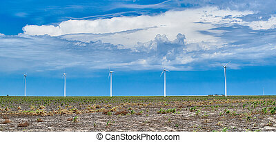 windmils, campo, abertos