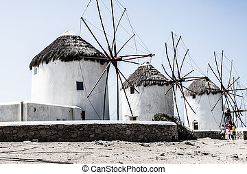 windmolen, mykonos, cyclades), (greece
