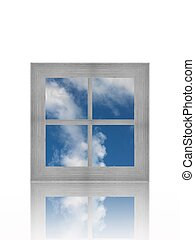 A conceptual image of a window with a view
