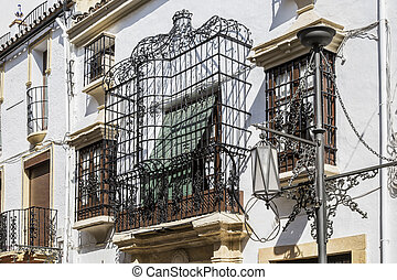 window and balcony in andalucia
