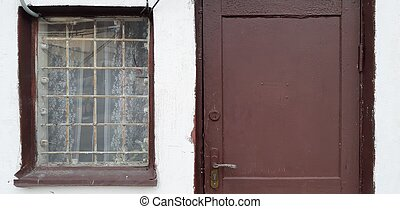 Window and door of an old house