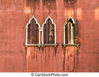 Window and Wall in Venice