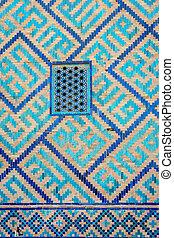 Window at Samarkand Registan, Uzbekistan - Detail of window...