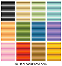 An image of window blinds shades set.