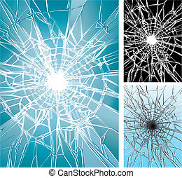 Window Broken - Glass Crushing, Vector illustration layered,...
