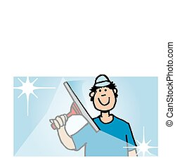 Window cleaner - window cleaner with squeegee