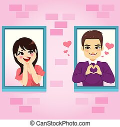 Window Couple Love
