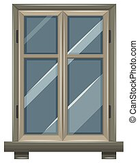 Window design with gray frame
