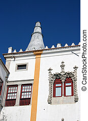 window detail of the national palace in sintra