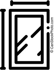 window dimensions icon vector outline illustration