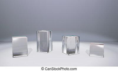 window display glass stand