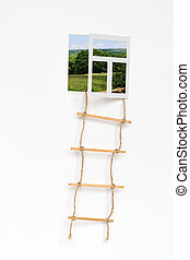 Window for creativity - Isolated opened window for your ...