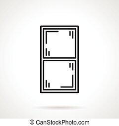 Window frame black line vector icon