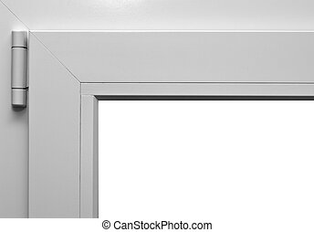 Window frame corner with hinge