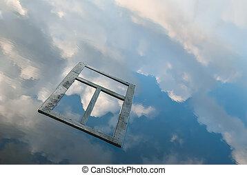 Window Frame Floating on Water - Window frame floating on ...