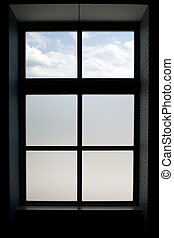 Window Frame - Interior view of a modern window that has...