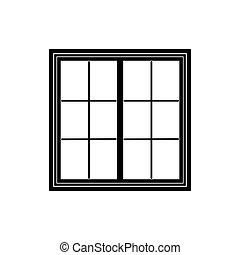 Window frame isolated on white background