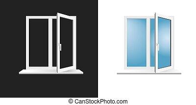 window frame on background