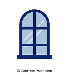 window frame on white background