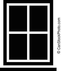 Window Frame With Glass Pane