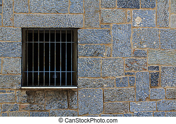 Window grille - A window grlile of a public house in Agios...