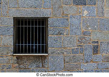 Window grille - A window grlile of a public house in Agios...