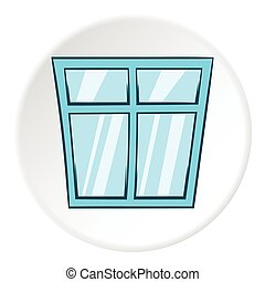 Window icon, cartoon style