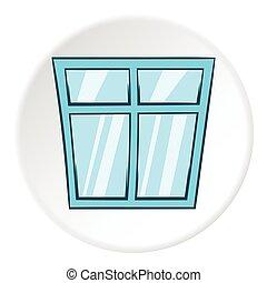 Window icon, cartoon style