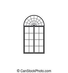 Window icon isolated. Flat design. Vector Illustration