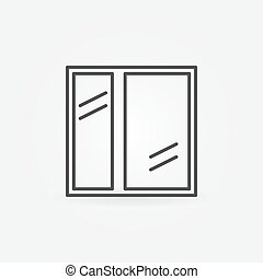 Window icon or line logo