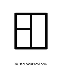 window icon vector black sign
