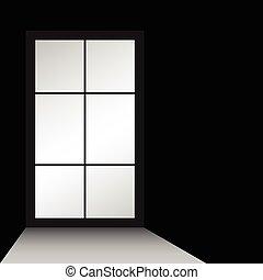 window illustration on black