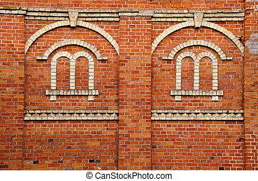 Window imitation on wall.