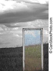 window in a field