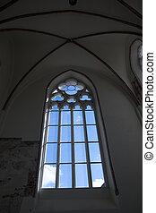 window in a gothic church