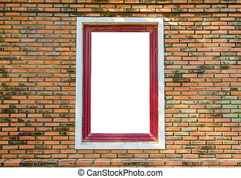 Window in a red brick wall