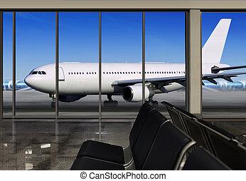 window in airport
