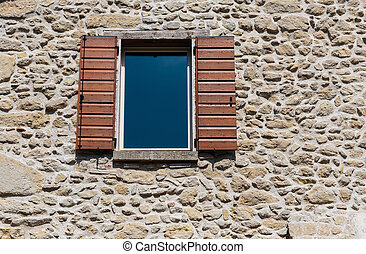 Window in an old house