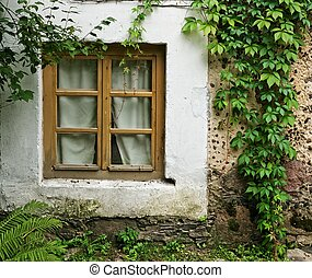Window in an old house.