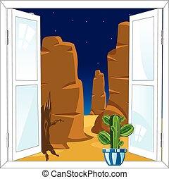 Window in desert